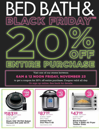 Check Out the Bed Bath & Beyond Black Friday 2018 Ad