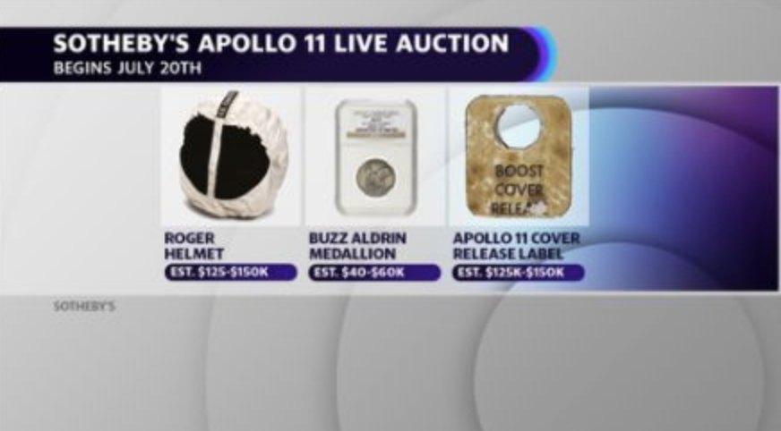 Sotheby's Apollo 11 auction items