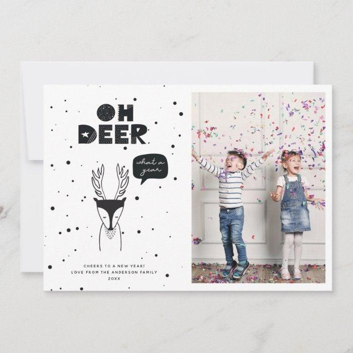 """<h3><strong>Zazzle</strong></h3><br><br>Zazzle turns the expression of personal style into an art form by featuring address labels, stickers, and even holiday stamps to match the design of your card. This is huge for us perfectionist-types who feel a tremendous letdown when we stick a Liberty Bell stamp on our otherwise decorative envelopes.<br><br>Currently, you can snag any of their holiday cards, invitations, and announcements for 60% off with the code """"PAPERSAVINGS"""".<br><br>Shop <a href=""""https://www.zazzle.com/"""" rel=""""nofollow noopener"""" target=""""_blank"""" data-ylk=""""slk:Zazzle"""" class=""""link rapid-noclick-resp"""">Zazzle</a><br><br><strong>Farlane Design Co.</strong> Modern Scandinavian Fun Deer Holiday Card (50), $, available at <a href=""""https://go.skimresources.com/?id=30283X879131&url=https%3A%2F%2Ffave.co%2F3mhGNsh"""" rel=""""nofollow noopener"""" target=""""_blank"""" data-ylk=""""slk:Zazzle"""" class=""""link rapid-noclick-resp"""">Zazzle</a>"""