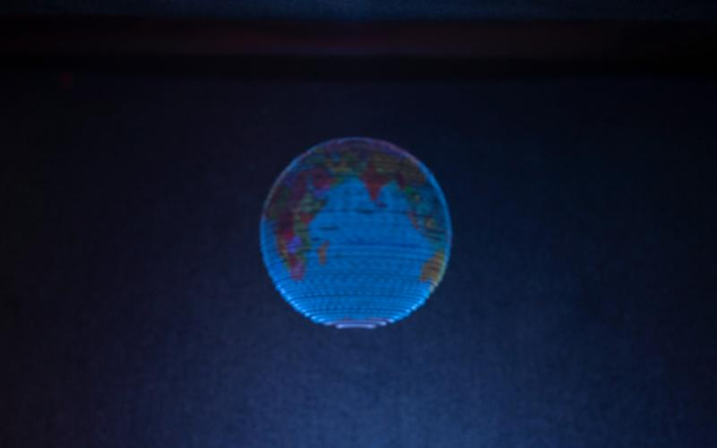 A hologram of the Earth created by the University of Sussex - University of Sussex