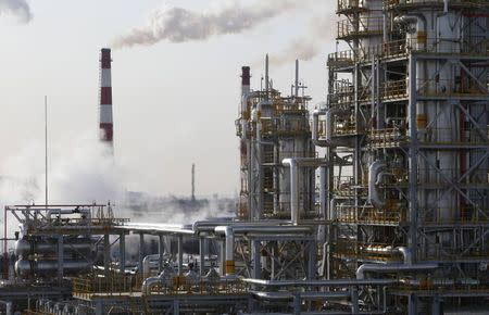 A general view of the Bashneft-Ufimsky refinery plant is seen outside Ufa, Bashkortostan