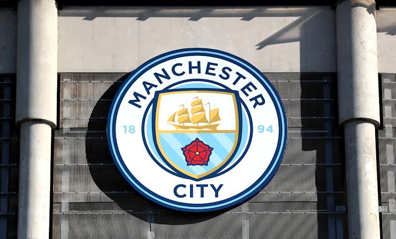 A general view of Manchester City crest