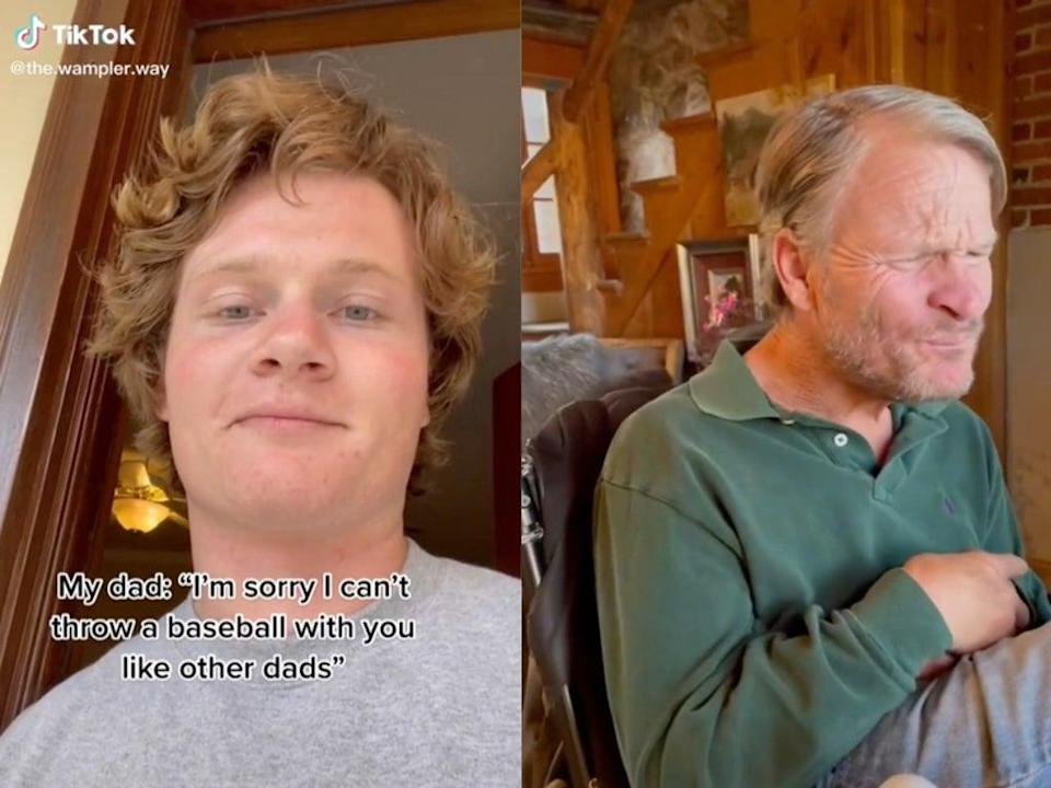 TikTok sees son reminding father with cerebral palsy that he is 'enough'  (TikTok / @the.wampler.way)