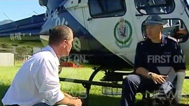 Rovert Ovadia interviewed Officer Warburton four years ago during the hunt for Malcolm Naden. Photo: 7 News
