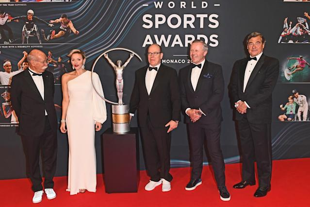 ___attends the 2018 Laureus World Sports Awards at Salle des Etoiles, Sporting Monte-Carlo on February 27, 2018 in Monaco, Monaco. (Photo: Getty Images)
