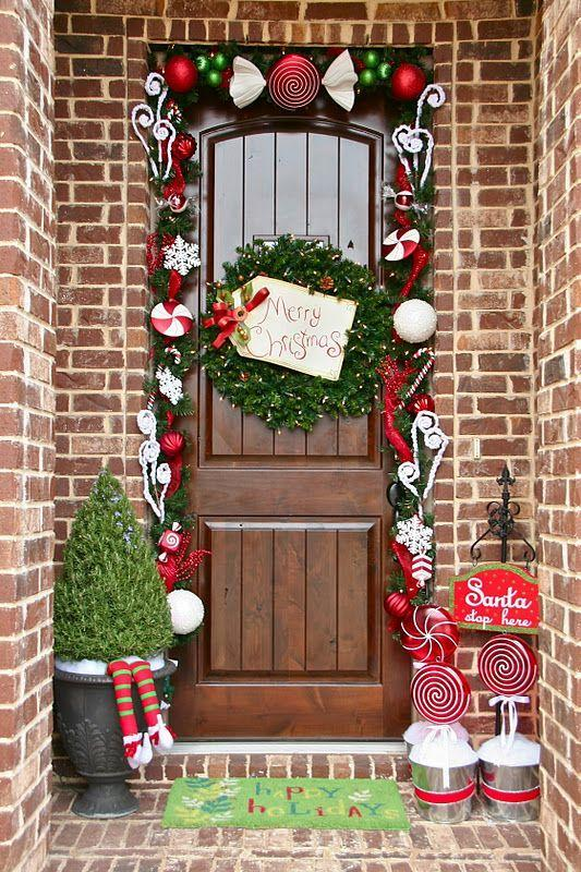 "<p>When visions of sugarplums dance in your head, you might get a little inspired to outline your front door with candy décor.</p><p><em><a href=""http://lookiewhatidid.blogspot.com/2011/12/merry-christmas-welcome.html"" rel=""nofollow noopener"" target=""_blank"" data-ylk=""slk:See more at Lookie What I Did »"" class=""link rapid-noclick-resp"">See more at Lookie What I Did »</a></em><br></p>"