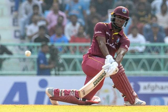 West Indies batsman Shai Hope scored his seventh one-day international century (AFP Photo/Rohit UMRAO)