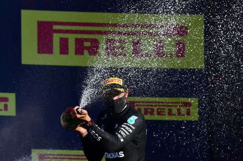 Hamilton on brink of Schumi record after three-in-one win