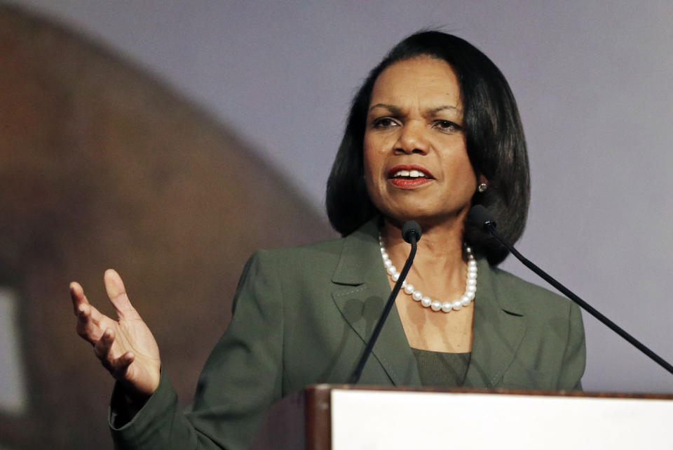 Can former Secretary of State Condoleezza Rice save college basketball? (AP)