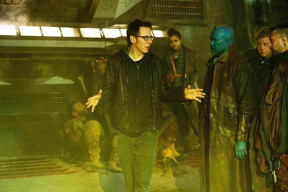 James Gunn on the set of 2014's <em>Guardians of the Galaxy</em>. (Photo: Jay Maidment/Walt Disney Studios Motion Pictures/Courtesy Everett Collection)