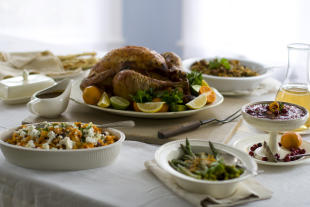 Some retailers are hoping consumers forget the turkey and head to the store instead this year (AP Photo/Matthew Mead, FIle)