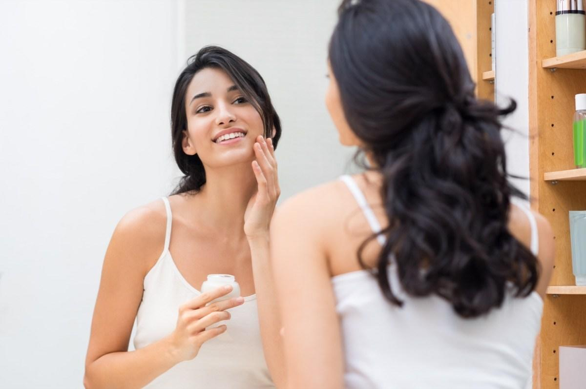 """""""If you live in a dry or cooler climate, you should be looking for products that actually have the <em>right kind</em> of moisturizer within them,"""" says dermatologist <strong><a href=""""https://www.minarsdermatology.com/"""" target=""""_blank"""">Todd Minars</a></strong>, MD. He recommends the <a href=""""https://amlactin.com/"""" target=""""_blank"""">AmLactin</a> brand, which contains the nourishing ingredient lactic acid.  """"Most moisturizers act as a sort of greasy barrier that attempts to lock in moisture. Lactic acid acts instead as a humectant, which draws water into the skin,"""" Minars explains. """"This is beneficial because many of those who <a href=""""https://bestlifeonline.com/dry-skin/?utm_source=yahoo-news&utm_medium=feed&utm_campaign=yahoo-feed"""" target=""""_blank"""">suffer from dry skin</a> have flare-ups in the affected regions due to this transepidermal water loss."""""""