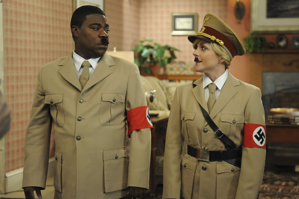 "30 ROCK -- ""Part 1: Hogcock! Part 2: Last Lunch"" Episode 712/713 -- Pictured: (l-r) Tracy Morgan as Tracy Jordan, Jane Krakowski as Jenna Maroney"