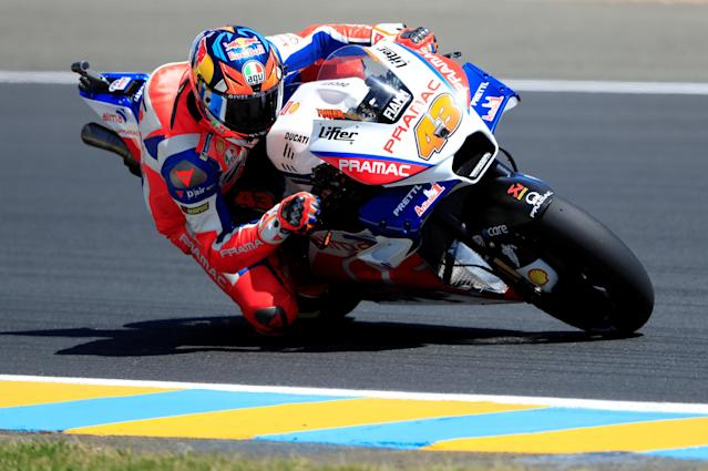 Motorcycling - MotoGP - French Grand Prix - Bugatti Circuit, Le Mans, France - May 19, 2018 Alma Pramac Racing's Jack Miller during qualifying REUTERS/Gonzalo Fuentes