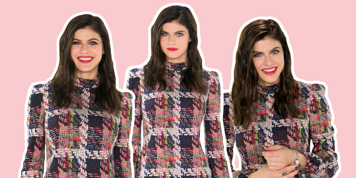 Alexandra Daddario who stars in the upcoming Baywatch film visits Yahoo! (Photo: Casey Hollister)