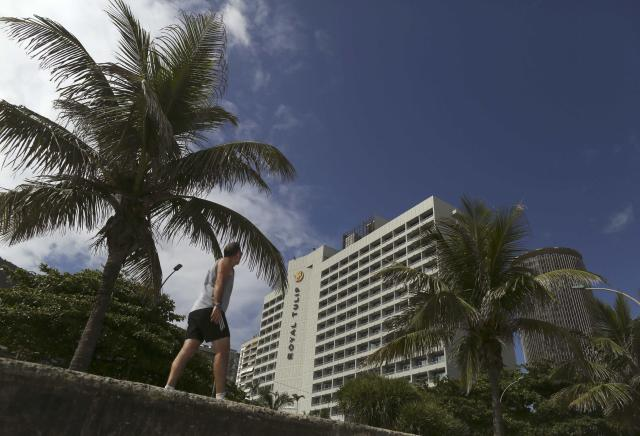 A view of the Royal Tulip hotel, where the England soccer team will be staying at during the 2014 World Cup, in front of Sao Conrado beach in Rio de Janeiro, February 18, 2014. REUTERS/Pilar Olivares (BRAZIL - Tags: SPORT SOCCER WORLD CUP)