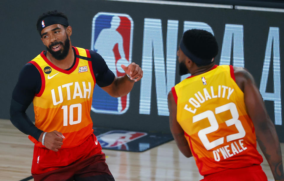Utah Jazz's Mike Conley will be in the lineup for Game 3. (Kevin C. Cox/Pool Photo via AP)