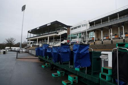 Horse Racing - Newcastle - Newcastle Racecourse, Newcastle upon Tyne, Britain - February 8, 2019 General view at the racecourse after the meeting is cancelled following the confirmed outbreak of equine flu Action Images via Reuters/Lee Smith
