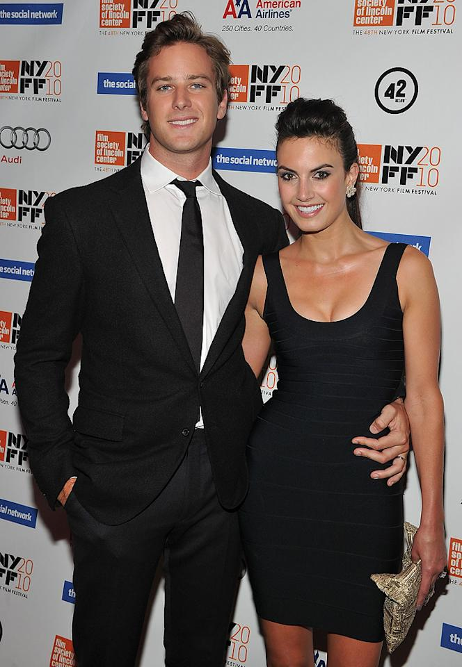 """<a href=""""http://movies.yahoo.com/movie/contributor/1809724193"""">Armie Hammer</a> and guest at the New York City premiere of <a href=""""http://movies.yahoo.com/movie/1810128131/info"""">The Social Network</a> on September 24, 2010."""