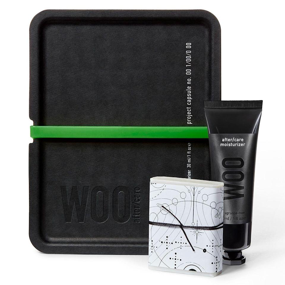 """<p><strong>Project Woo</strong></p><p>projectwoo.co</p><p><strong>$42.00</strong></p><p><a href=""""https://projectwoo.co/products/aftercare-kit"""" rel=""""nofollow noopener"""" target=""""_blank"""" data-ylk=""""slk:Shop Now"""" class=""""link rapid-noclick-resp"""">Shop Now</a></p><p>Dr. Woo's After/Care Moisturizer harnesses the master tattooer's attention to detail and high standards. More of a lotion than an ointment, it contains ingredients like shea butter, sesame oil, and chamomile as well as something called """"water breaking technology which delivers immediate relief and optimal hydration to freshly-tattooed skin,"""" he says. Best of all, it's airy, not heavy like a traditional ointment, to let your skin breathe while it heals.</p>"""