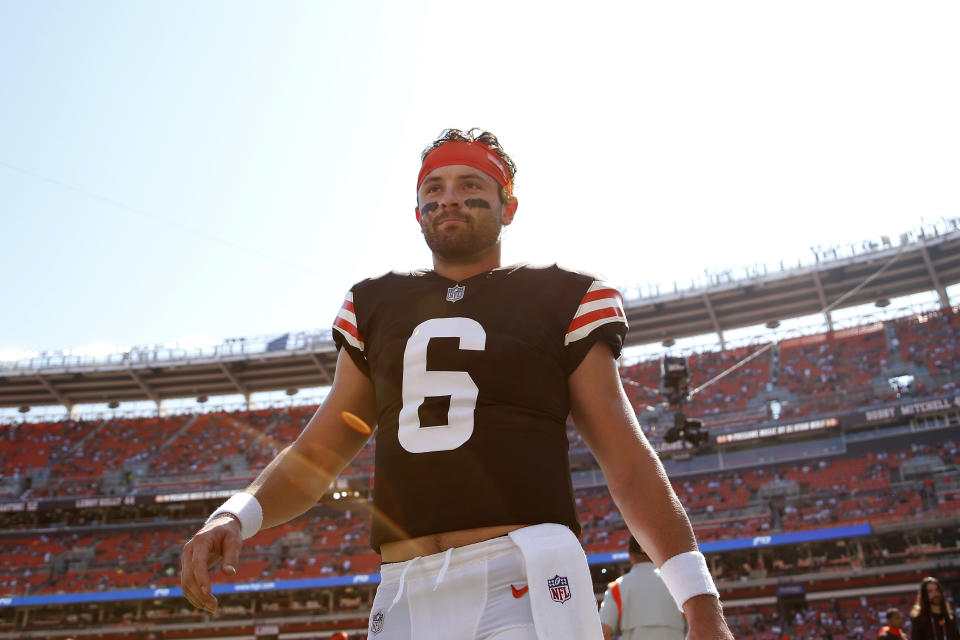 Cleveland Browns quarterback Baker Mayfield (6) and his team will be looking for a second straight win. (AP Photo/Kirk Irwin)