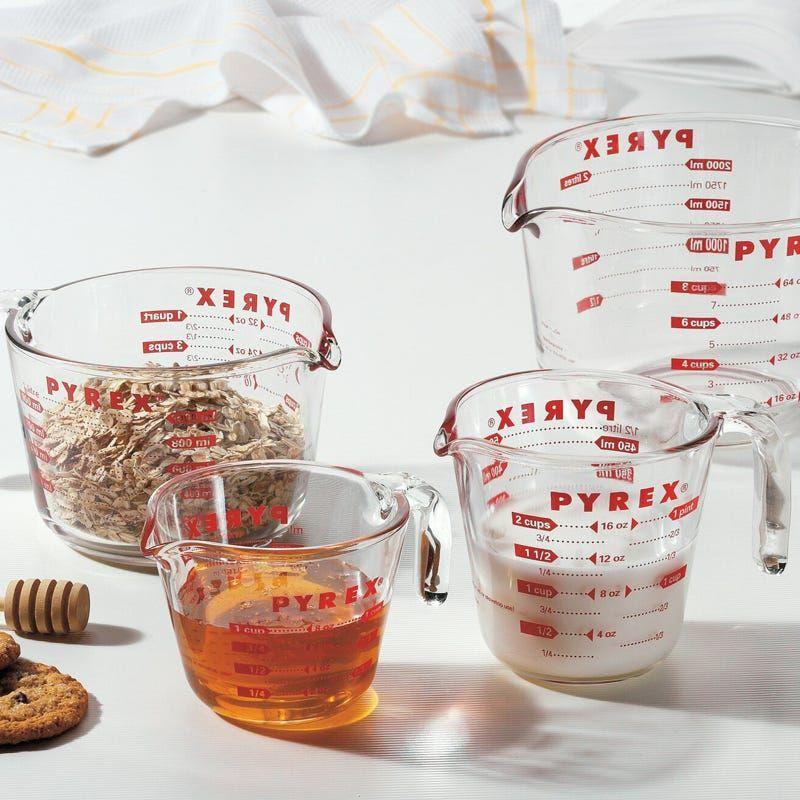 """<p><strong>Pyrex</strong></p><p>theknot.com</p><p><strong>$32.09</strong></p><p><a href=""""https://go.redirectingat.com?id=74968X1596630&url=https%3A%2F%2Fwww.theknot.com%2Fregistry%2Fstore%2Fproducts%2F4-piece-measuring-cup-set-1&sref=https%3A%2F%2Fwww.housebeautiful.com%2Fshopping%2Fhome-accessories%2Fg36318062%2Fwedding-gifts-couples-want-2021%2F"""" rel=""""nofollow noopener"""" target=""""_blank"""" data-ylk=""""slk:BUY NOW"""" class=""""link rapid-noclick-resp"""">BUY NOW</a></p><p>Pyrex glass measuring cups are kitchen necessities. This set includes four cups of various sizes, making them ideal for a range of baking needs. Bonus: They're safe to use in the microwave, dishwasher, and oven.</p>"""