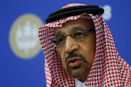 Saudi Energy Minister al-Falih attends a session of the St. Petersburg International Economic Forum
