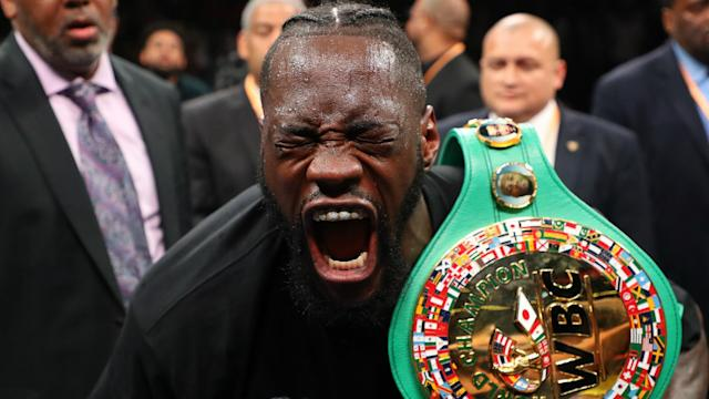 Deontay Wilder (42-0-1) stunned his opponent with a powerful right hand at MGM Grand in Las Vegas on Saturday.