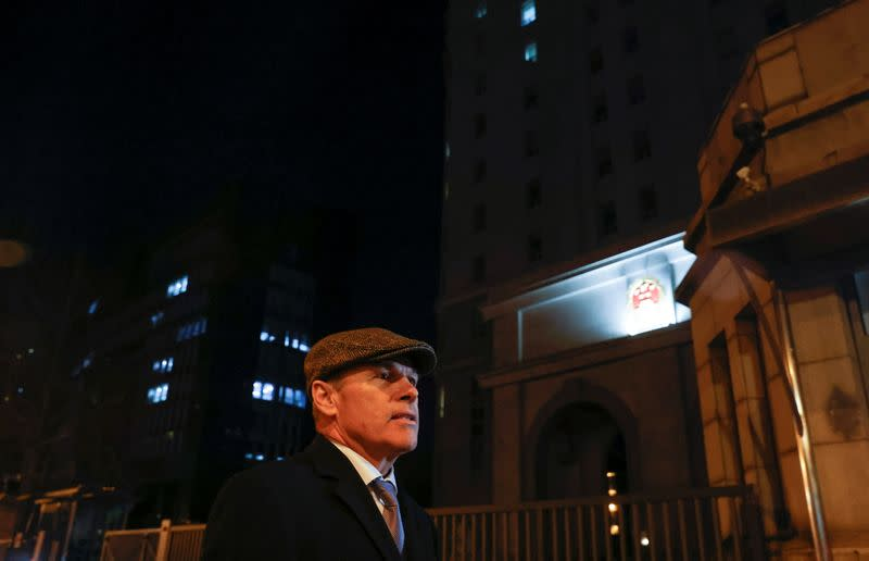 Nickel, charge d'affaires of the Canadian Embassy in Beijing, stands outside Beijing No. 2 Intermediate People's Court