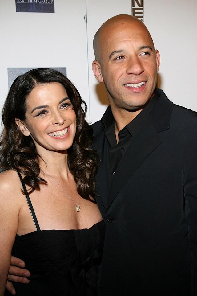 """Annabelle Sciorra and <a href=""""http://movies.yahoo.com/movie/contributor/1800020716"""">Vin Diesel</a> at the New York premiere of <a href=""""http://movies.yahoo.com/movie/1808748798/info"""">Find Me Guilty</a> - 03/14/2006"""