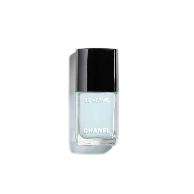 """<p>Chanel Longwear Nail Colour in Bleu Pastel, $28, <a href=""""https://shop-links.co/1668477055538498264"""" rel=""""nofollow noopener"""" target=""""_blank"""" data-ylk=""""slk:available here"""" class=""""link rapid-noclick-resp"""">available here</a>.</p>"""