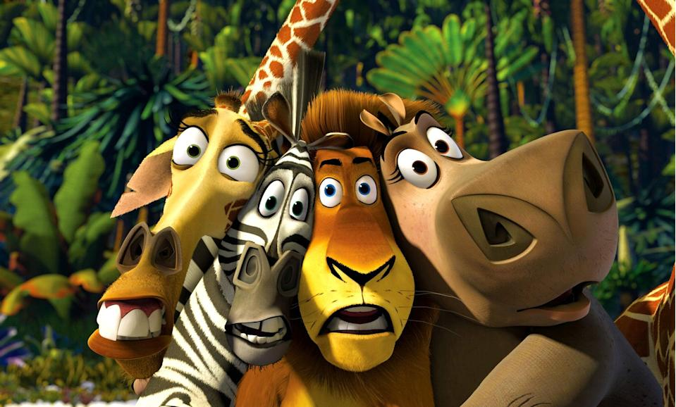 """<p><strong>HBO Max's Description:</strong> """"Marty the zebra and his friends--a lion, a giraffe, and a hippo--are the pampered star attractions at New York's Central Park Zoo. But the call of the wild inspires Marty to escape from their comfy confines. A wild adventure ensues that lands all four animals in exotic Madagascar, a place that quickly reminds them just how good they had it before!""""</p> <p><a href=""""https://play.hbomax.com/feature/urn:hbo:feature:GXXAlXAeQsMPCwgEAAAGz"""" class=""""link rapid-noclick-resp"""" rel=""""nofollow noopener"""" target=""""_blank"""" data-ylk=""""slk:Watch Madagascar on HBO Max here!"""">Watch <strong>Madagascar</strong> on HBO Max here!</a></p>"""