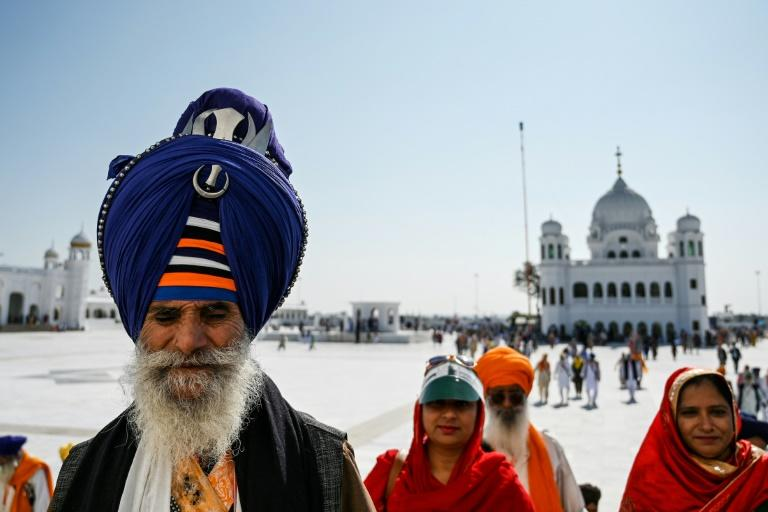 Sikh pilgrims can now travel to the Kartarpur shrine through a special visa-free corridor from India (AFP Photo/AAMIR QURESHI)