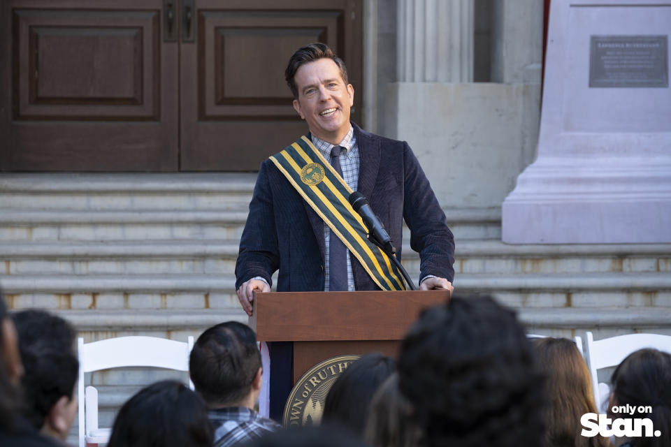 Nathan Rutherford (Ed Helms) in Rutherford Falls