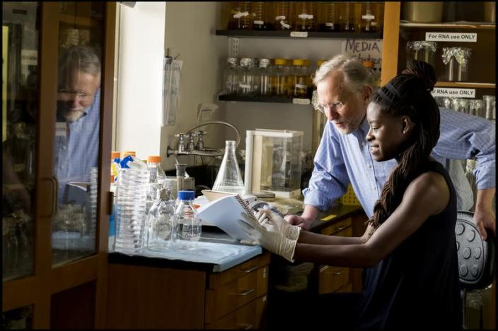 Professor Charles M. Rice of Rockefeller University, who was named as one of three scientists to be awarded the 2020 Nobel Prize in Physiology or Medicine, is seen in New York