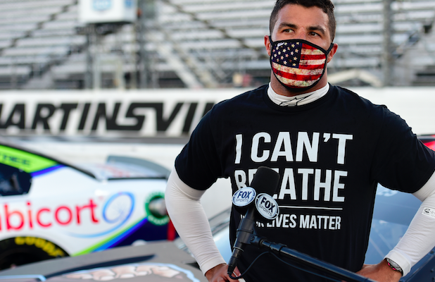Black NASCAR Driver Bubba Wallace on Confederate Flag Ban: 'There's No Good That Comes With That Flag' (Video)