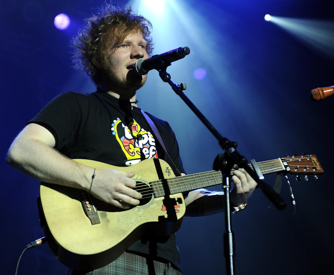 "Surprise: Ed Sheeran's ""The A Team"" was nominated for Song of the Year. It took a slot that many figured would be filled by such songs as Bruce Springsteen's ""We Take Care Of Our Own,"" Miranda Lambert's ""Over You,"" Mumford & Sons' ""I Will Wait"" and Ne-Yo's ""Let Me Love You (Until You Learn To Love Yourself."""