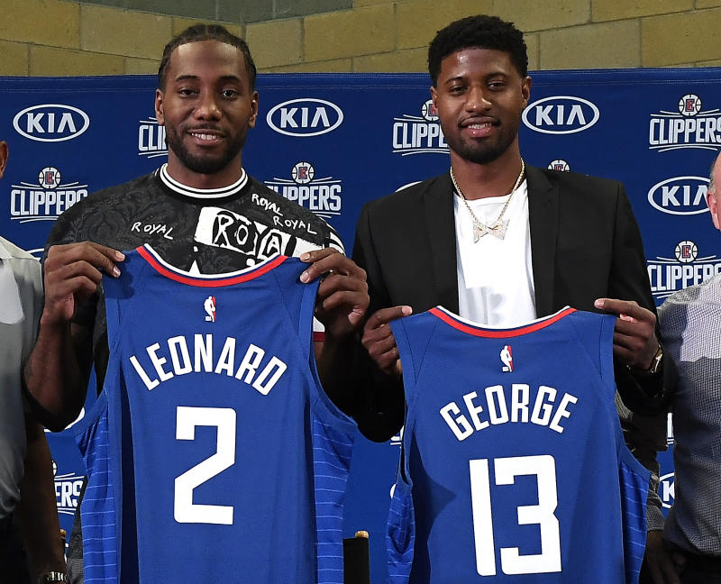 Kawhi Leonard and Paul George of the Los Angeles Clippers