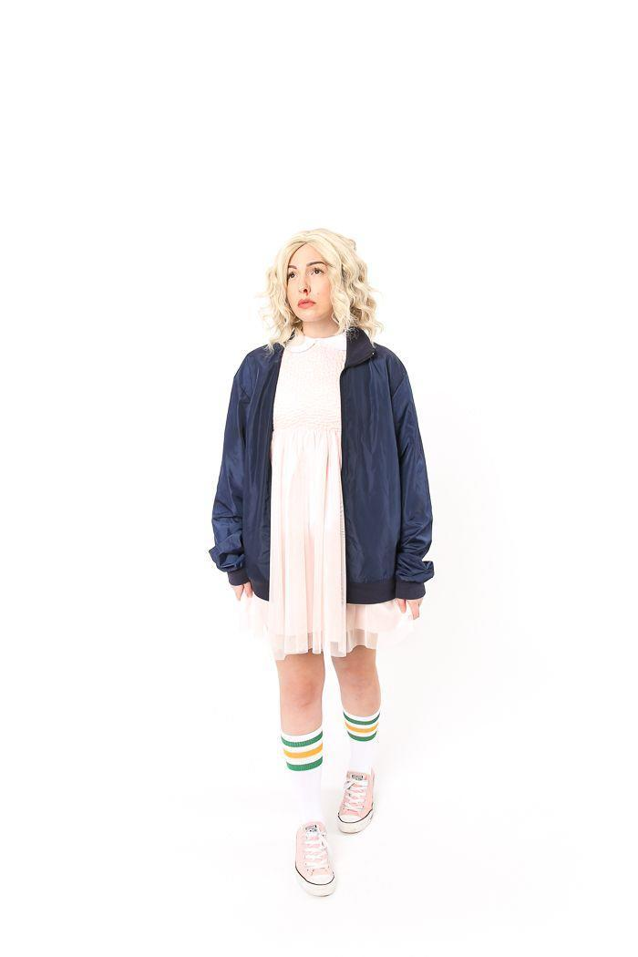"""<p>If you're a big <em>Stranger Things</em> fan, you can't go wrong with a DIY Eleven costume. The details are key for this one, so be sure to give yourself a faux bloody nose and carry a box of Eggo waffles!</p><p><strong>See more at <a href=""""https://keikolynn.com/2016/10/elevent-stranger-things-costume/"""" rel=""""nofollow noopener"""" target=""""_blank"""" data-ylk=""""slk:Keiko Lynn"""" class=""""link rapid-noclick-resp"""">Keiko Lynn</a>. </strong></p><p><a class=""""link rapid-noclick-resp"""" href=""""https://go.redirectingat.com?id=74968X1596630&url=https%3A%2F%2Fwww.walmart.com%2Fip%2FEggo-Frozen-Waffles-Frozen-Breakfast-Toaster-Waffles-Homestyle-12-3oz-Box-10-Waffles%2F10891827&sref=https%3A%2F%2Fwww.thepioneerwoman.com%2Fholidays-celebrations%2Fg37115224%2Fteen-halloween-costumes%2F"""" rel=""""nofollow noopener"""" target=""""_blank"""" data-ylk=""""slk:SHOP EGGO WAFFLES"""">SHOP EGGO WAFFLES</a></p>"""
