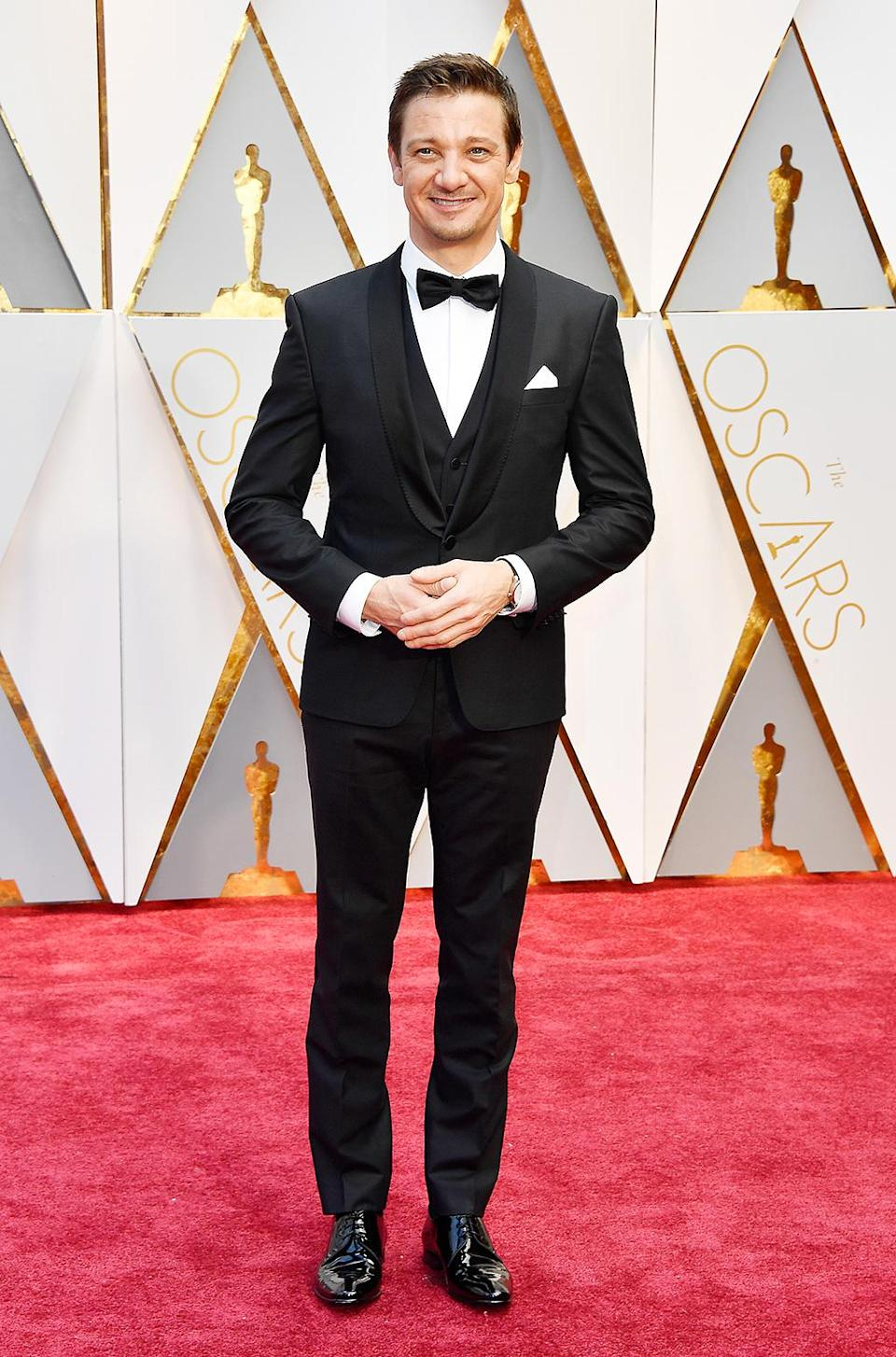 <p>Jeremy Renner attends the 89th Annual Academy Awards at Hollywood & Highland Center on February 26, 2017 in Hollywood, California. (Photo by Frazer Harrison/Getty Images) </p>