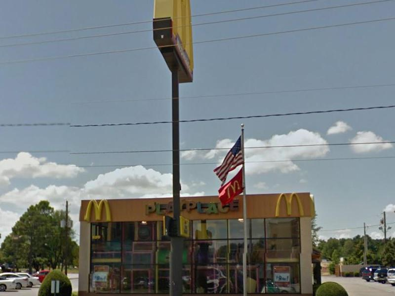 The incident happened at a McDonald's in Springdale in Arkansas: Google Maps