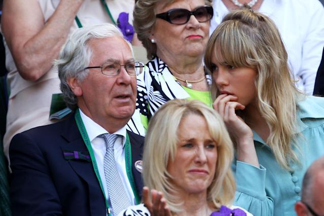 LONDON, ENGLAND - JULY 07: Sir Mervyn King attends the Gentlemen's Singles Final match between Andy Murray of Great Britain and Novak Djokovic of Serbia on day thirteen of the Wimbledon Lawn Tennis Championships at the All England Lawn Tennis and Croquet Club on July 7, 2013 in London, England. (Photo by Clive Brunskill/Getty Images)