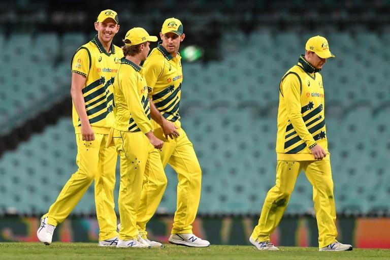 Australia played New Zealand behind closed doors in Sydney in March (AFP Photo/Saeed KHAN)
