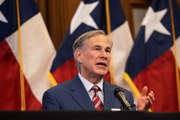 PHOTO: Texas Governor Greg Abbott speaks at a press conference in Austin, May 18, 2020. (Pool/Getty Images, FILE)
