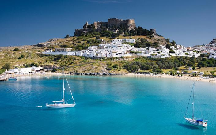 A fly-and-flop week in sunny Rhodes from £635? Yes please... - Getty