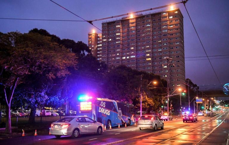 Several high-rise public housing towers in Melbourne have been locked down to contain the disease
