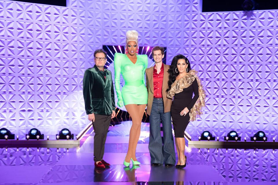 Drag Race UK judges: RuPaul, Michelle Visage, Alan Carr and Andrew Garfield