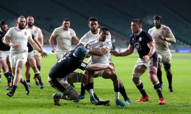 England's Anthony Watson is tackled