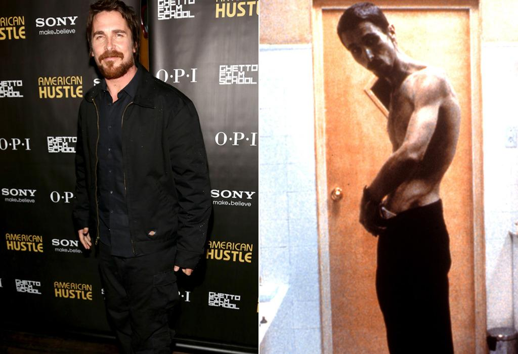 <p>Bale famously lost 62 pounds to play an industrial worker on the verge of insanity in the 2004 drama <i>The Machinist </i>(right). Years later he took it in the opposite direction, gaining 43 pounds for <i>American Hustle</i>. (Photo: WireImage/Everett)</p>