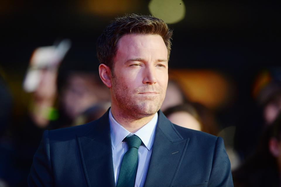 Ben Affleck attends the premiere of Batman v. Superman: Dawn Of Justice at Odeon, Leicester Square. (Photo by rune hellestad/Corbis via Getty Images)